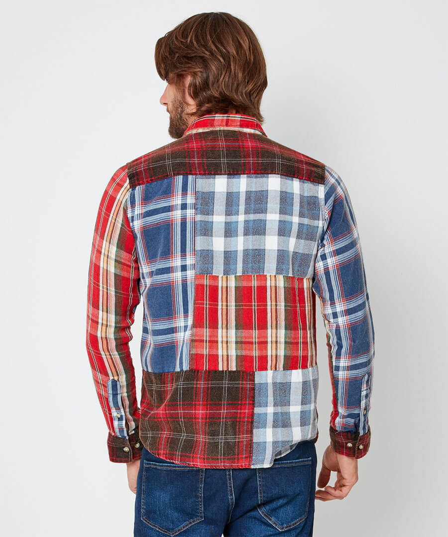 All About Checks Shirt Model Back