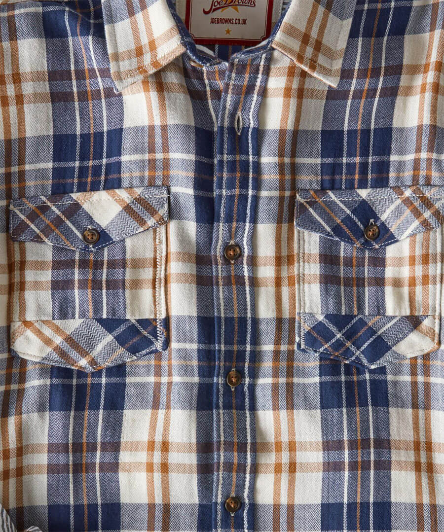 Two In One Check Shirt Back