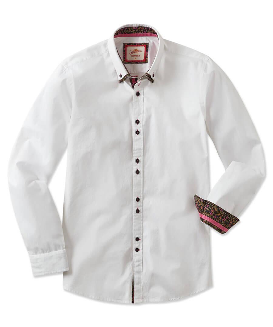 Fantastic Floral Double Collar Shirt Model Front