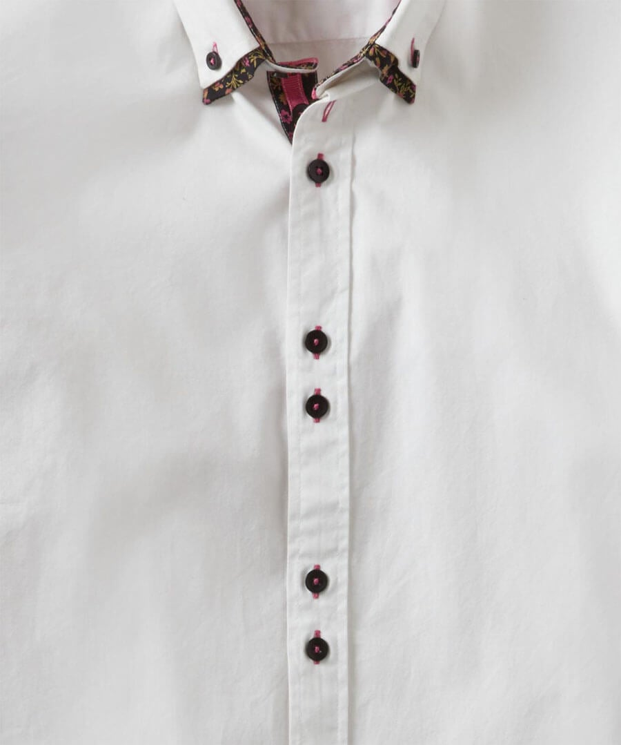 Fantastic Floral Double Collar Shirt Back