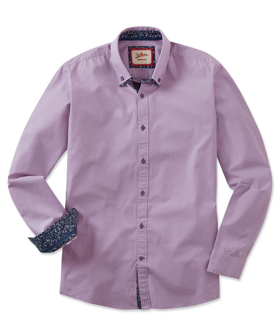 Sensational Double Collar Shirt Model Front