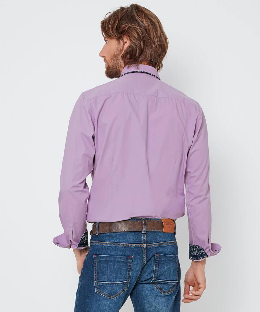 Sensational Double Collar Shirt Model Back
