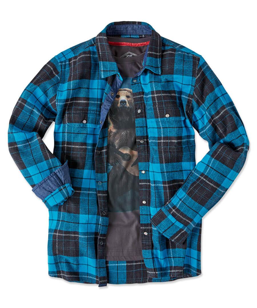 Brilliant Check Shirt Model Front