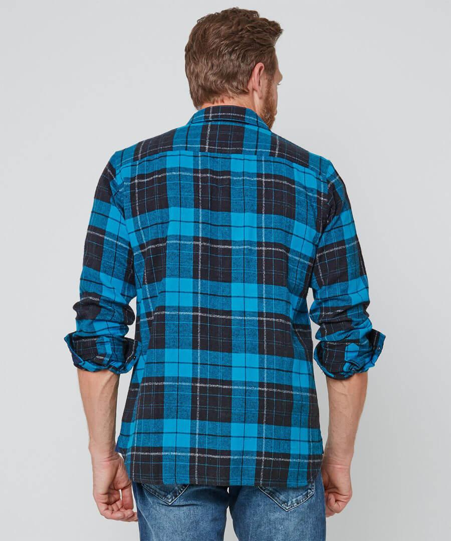 Brilliant Check Shirt Model Back