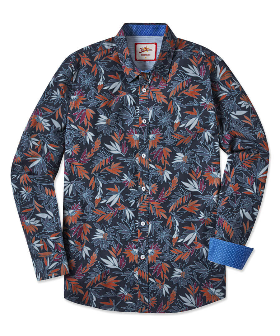 Autumn Leaf Shirt Model Front