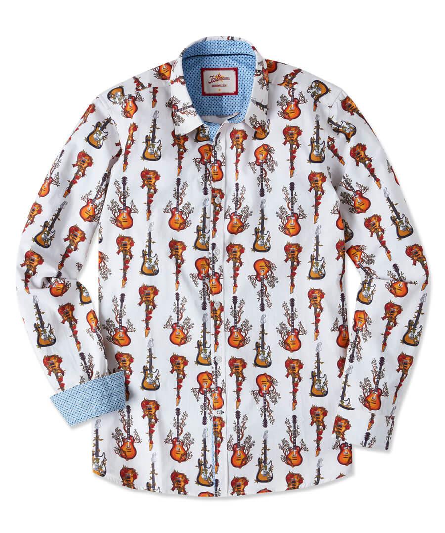Roots Guitar Shirt Model Front