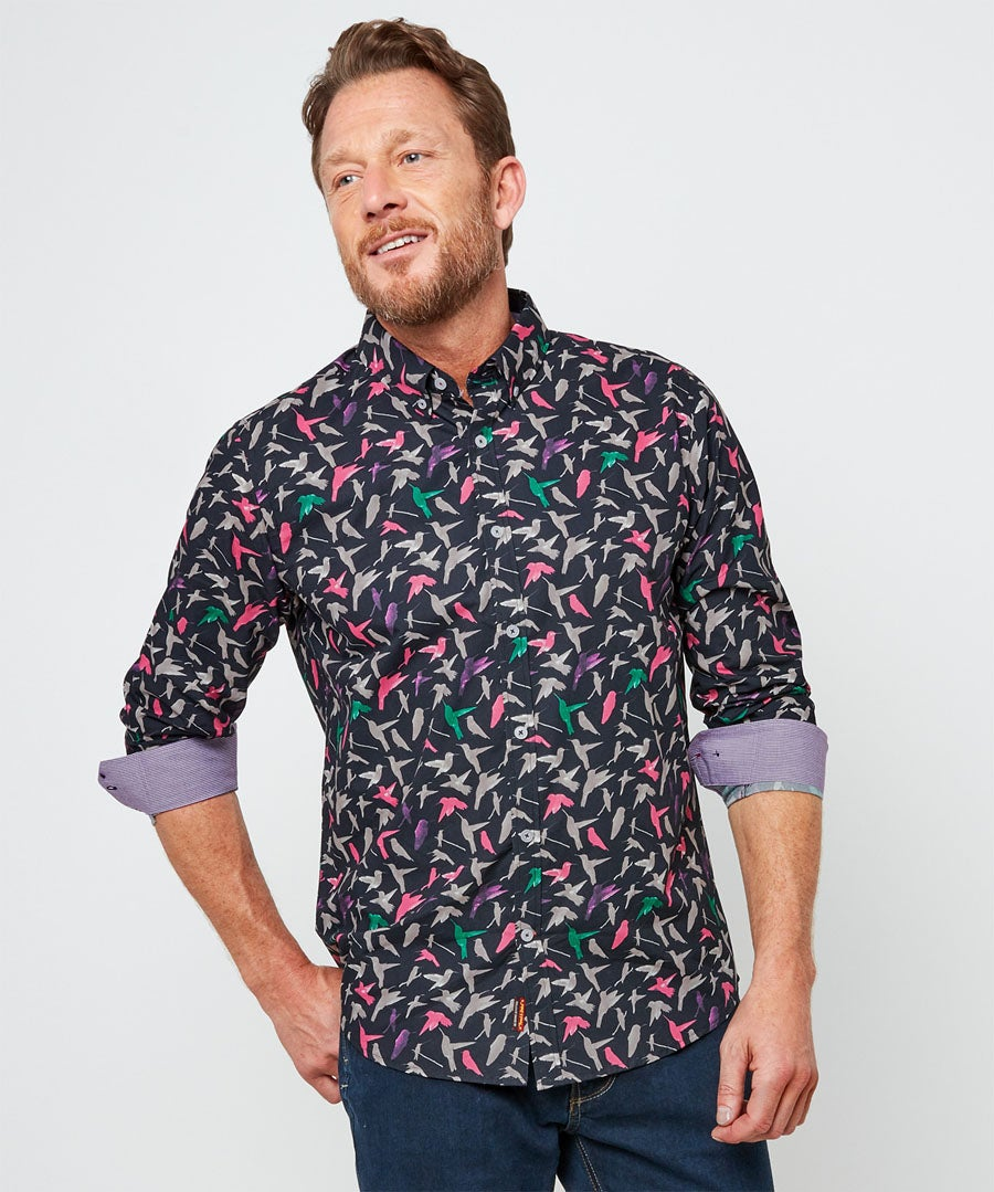 Brilliant Bird Shirt Model Front