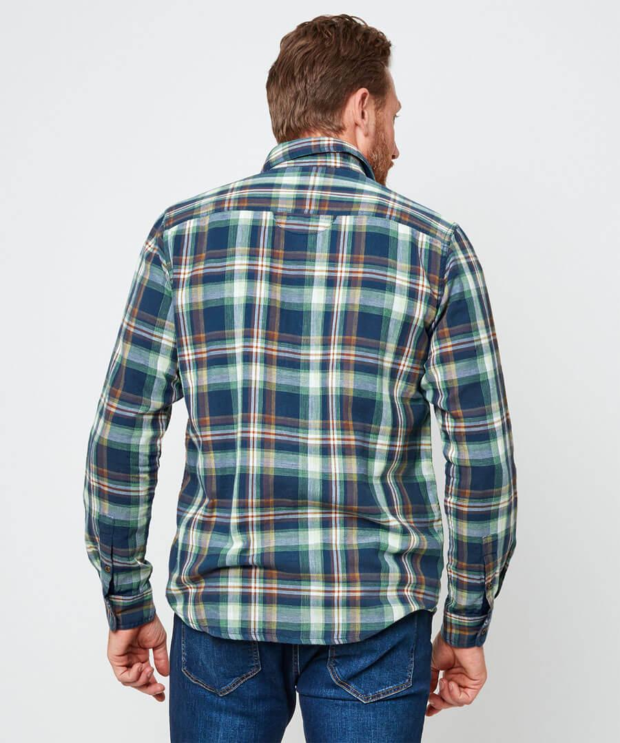 Comfortably Cool Check Shirt Model Back