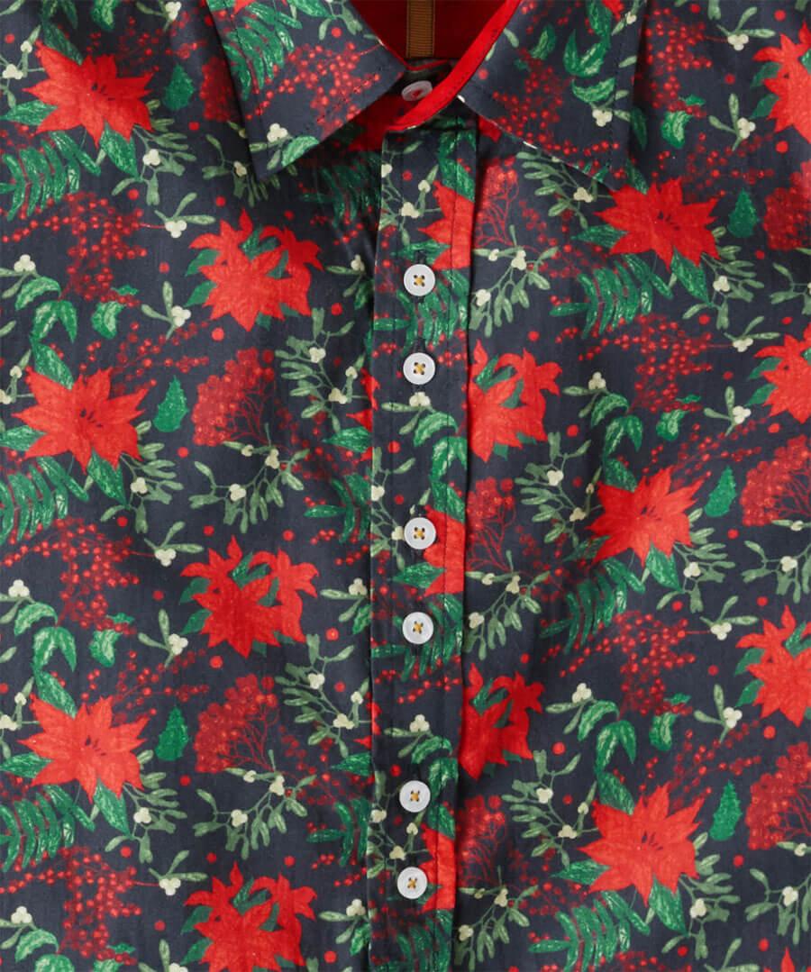 Christmas Floral Shirt Back