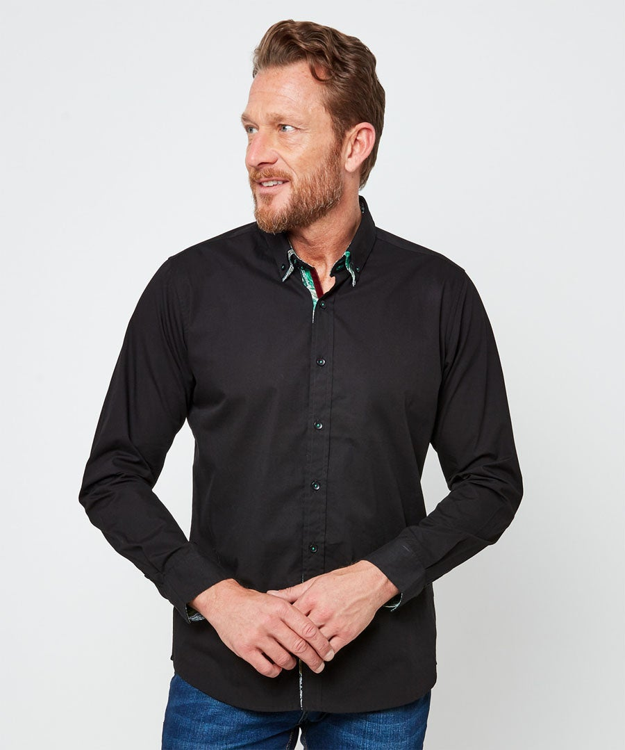Delighted Double Collar Shirt Model Front