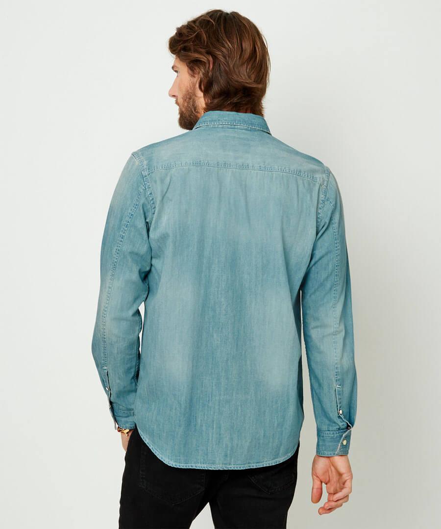 Customised Denim Shirt Model Back