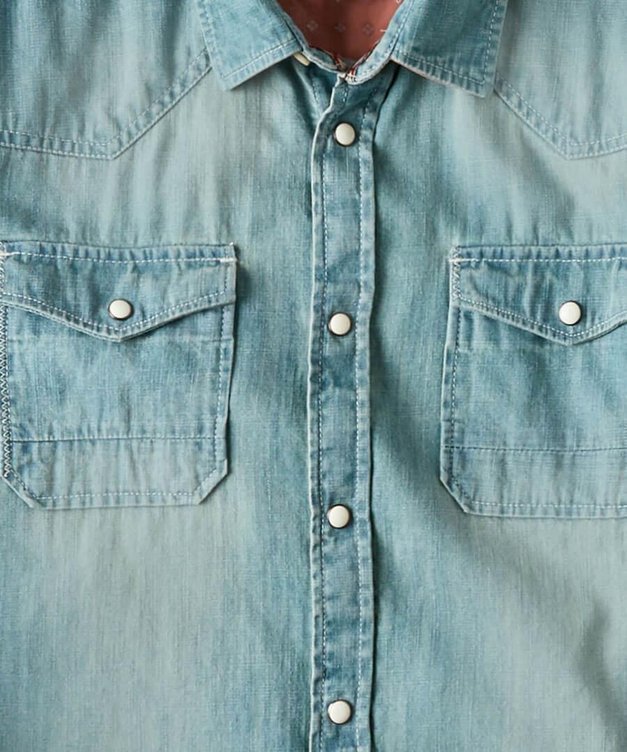 Customised Denim Shirt Back