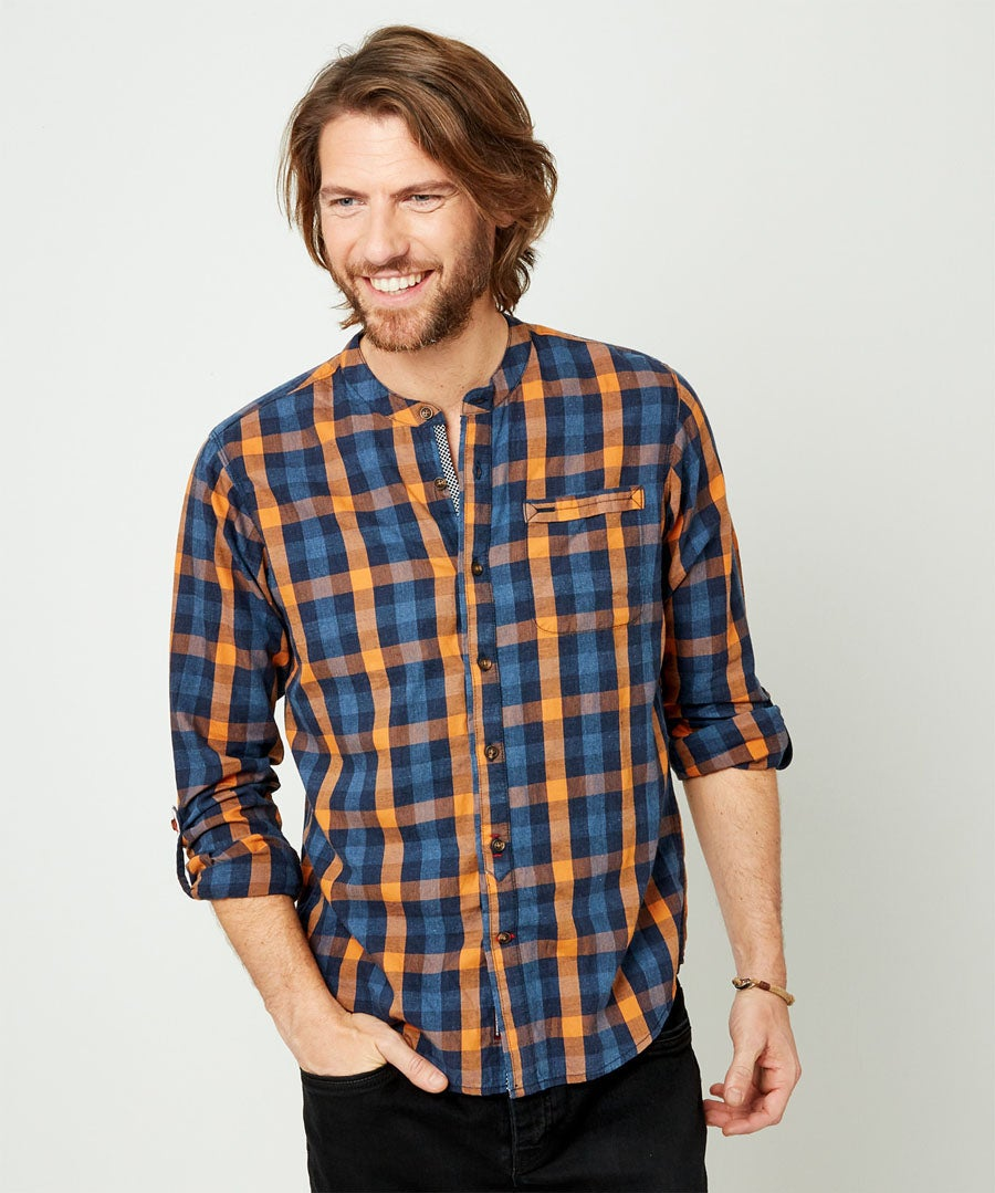 Check Me Out Grandad Shirt Model Front