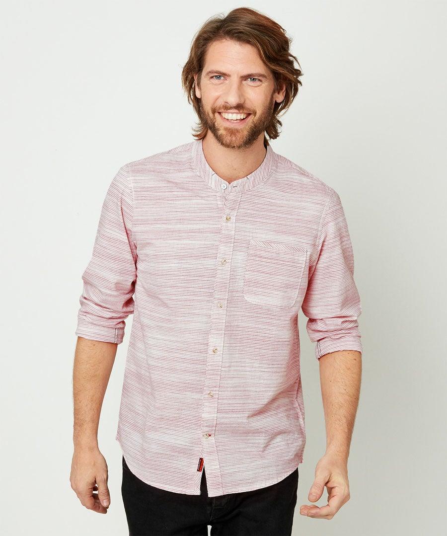 Easy Grandad Shirt Model Front