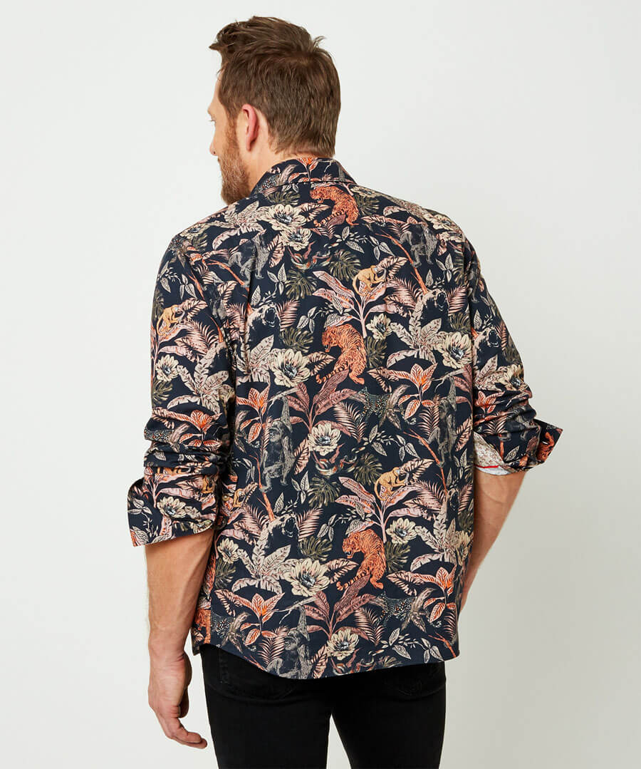 In The Jungle Shirt Model Back