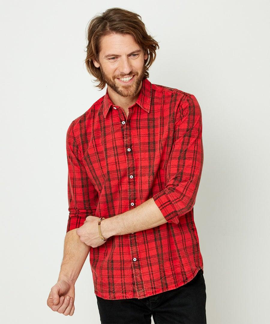 Rugged Check Shirt Model Front
