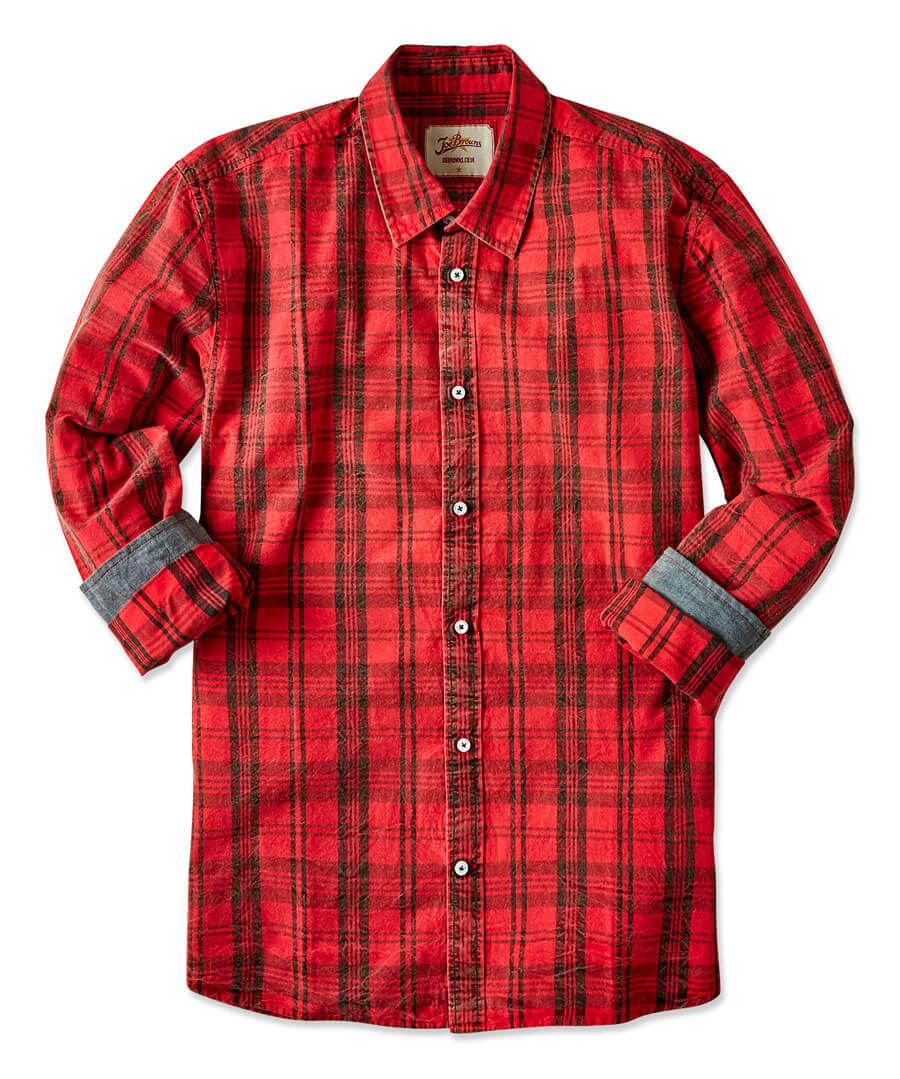 Rugged Check Shirt Back