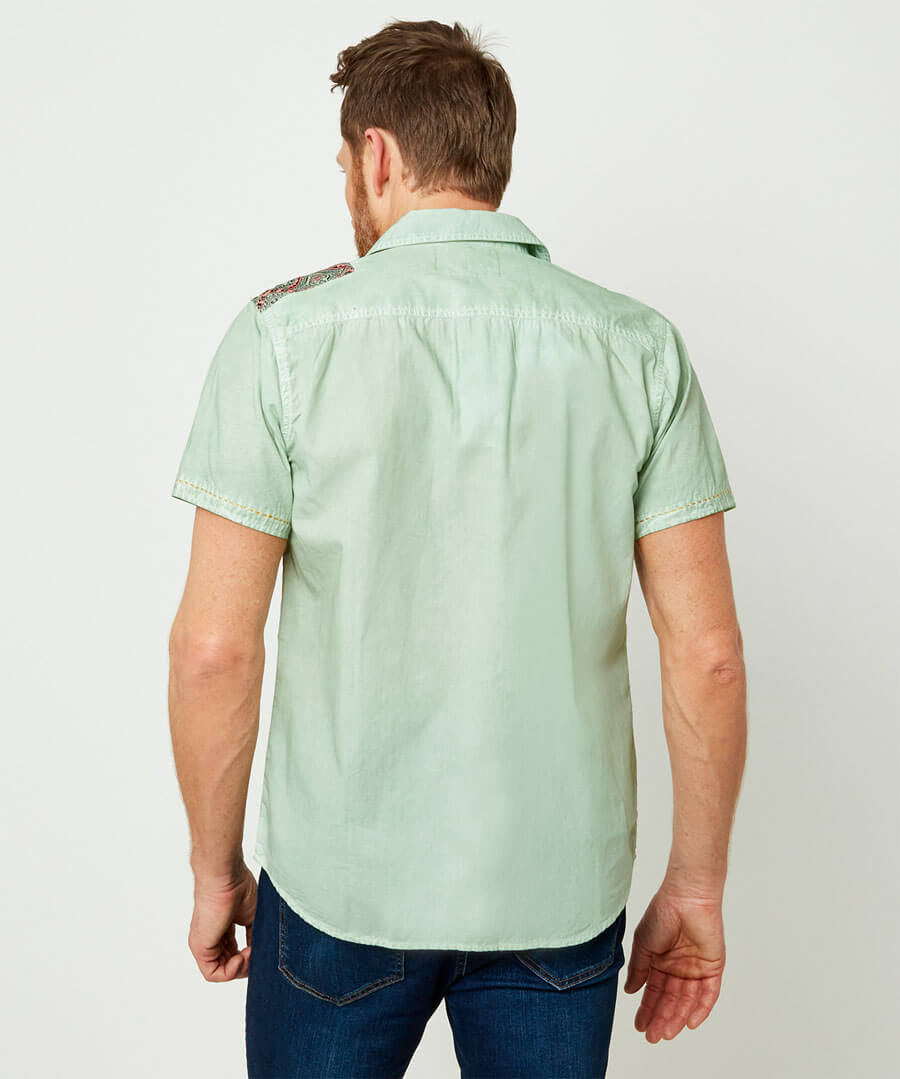 Casually Customised Shirt Model Back