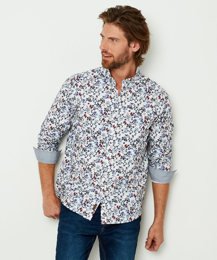 Delightful Ditsy Shirt Model Front