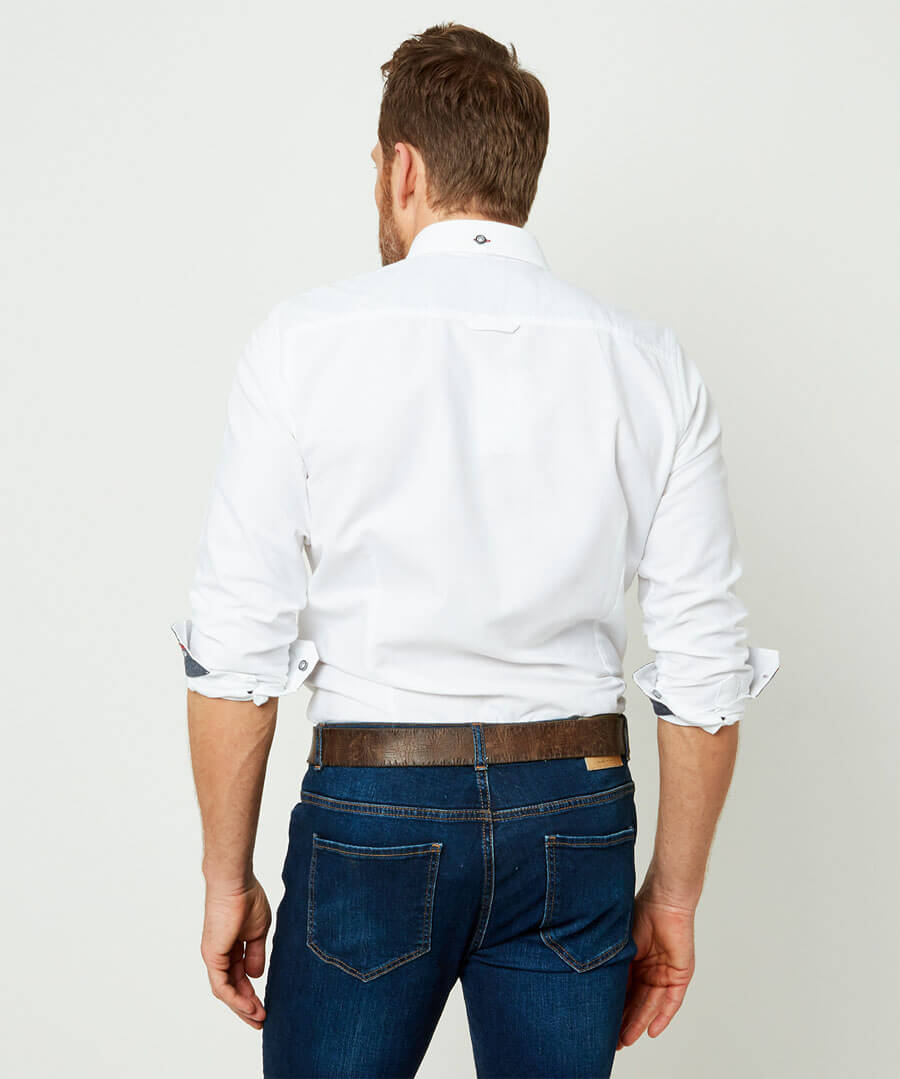 No Ordinary Oxford Shirt Model Back