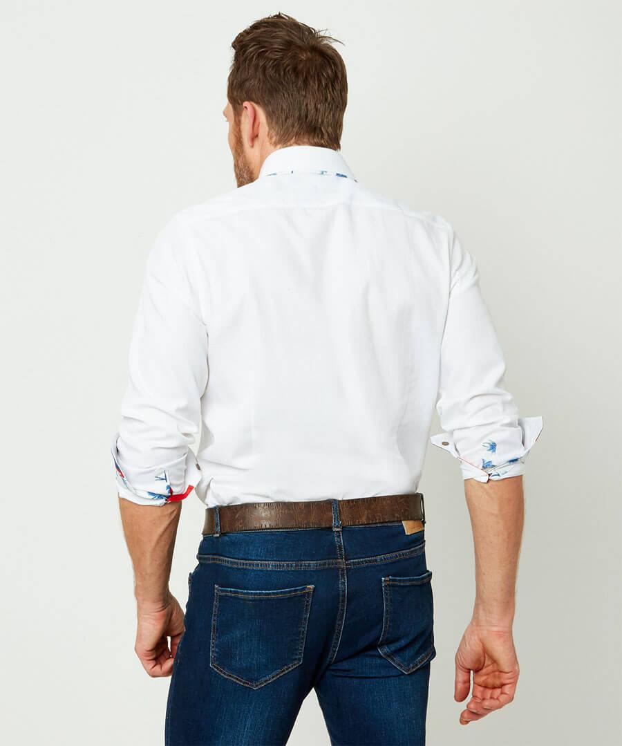 Perfect Placket Shirt Model Back