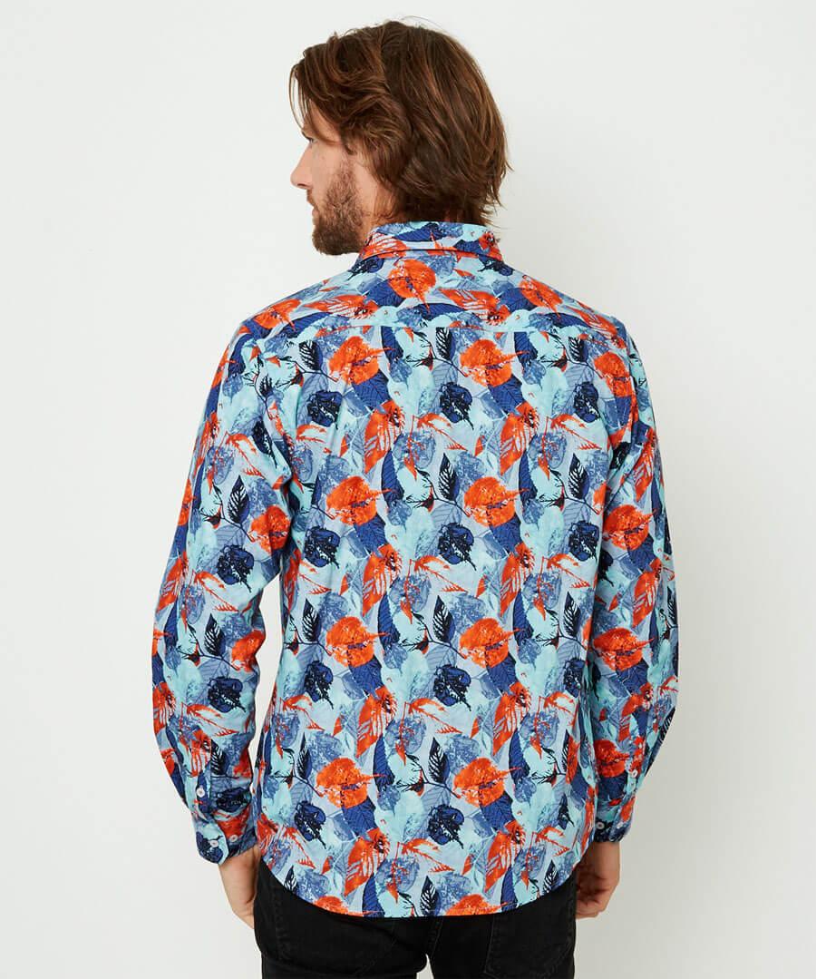 Denim Leaves Shirt
