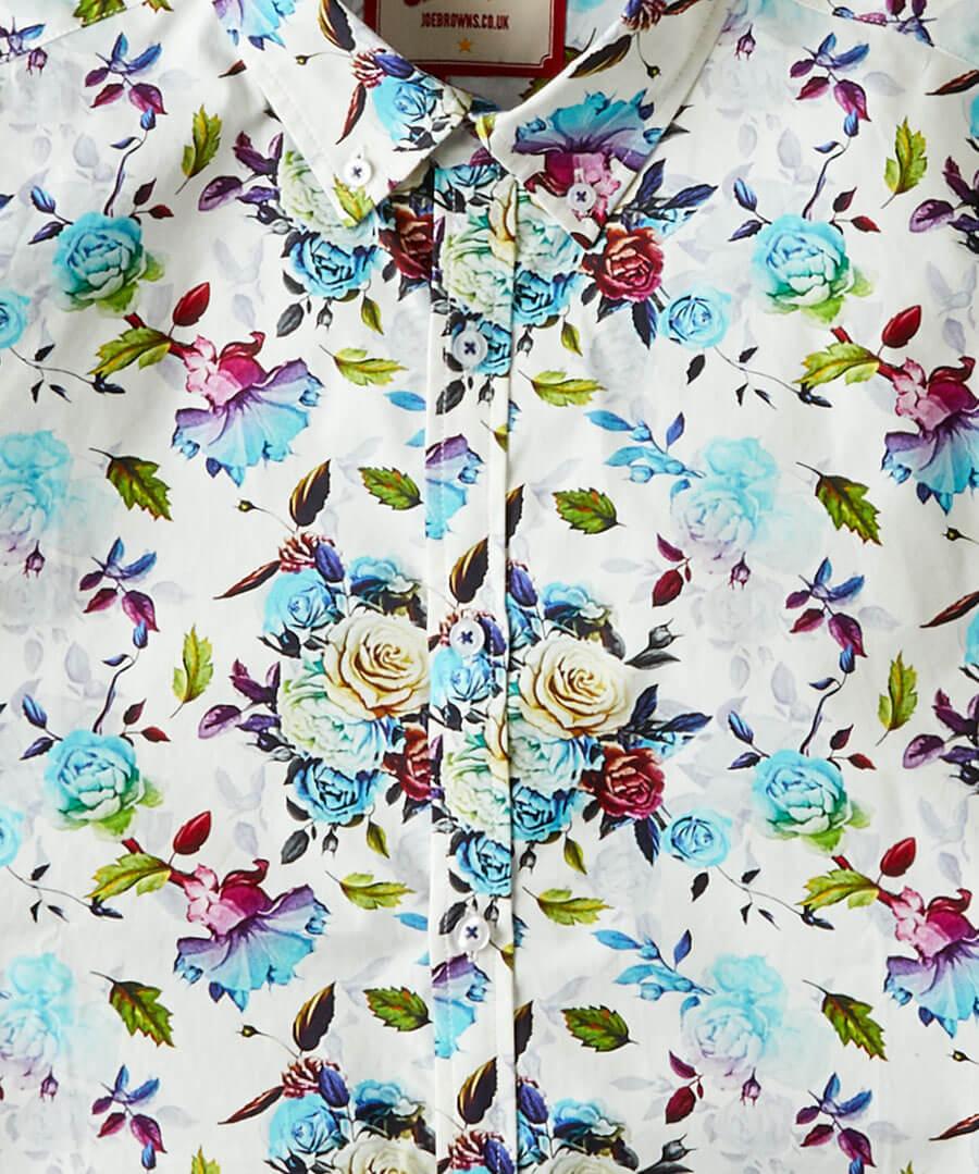 Funky Floral Shirt Back