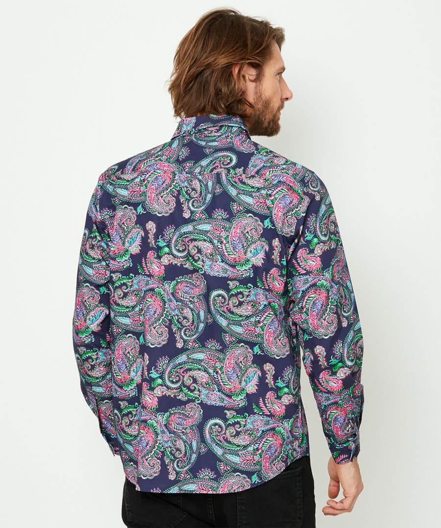 Perfect Paisley Shirt Model Back
