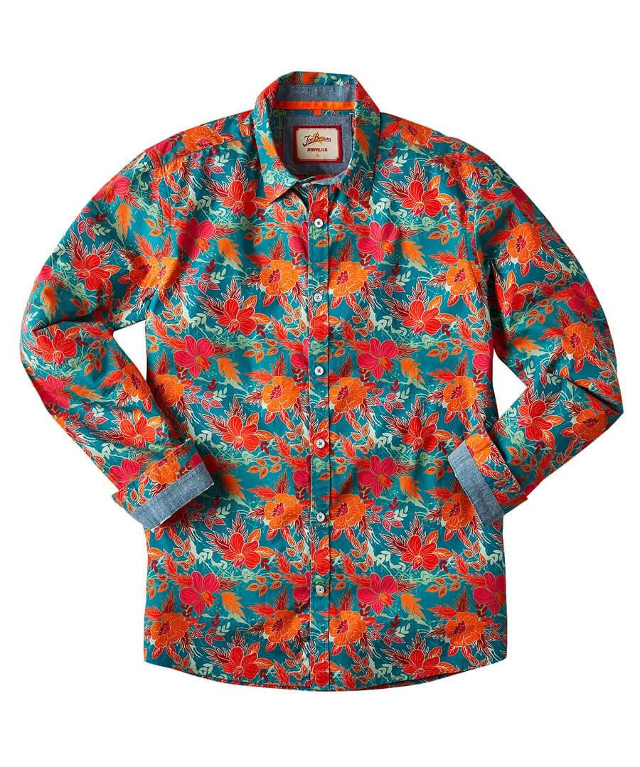 Fabulous Floral Shirt Model Front