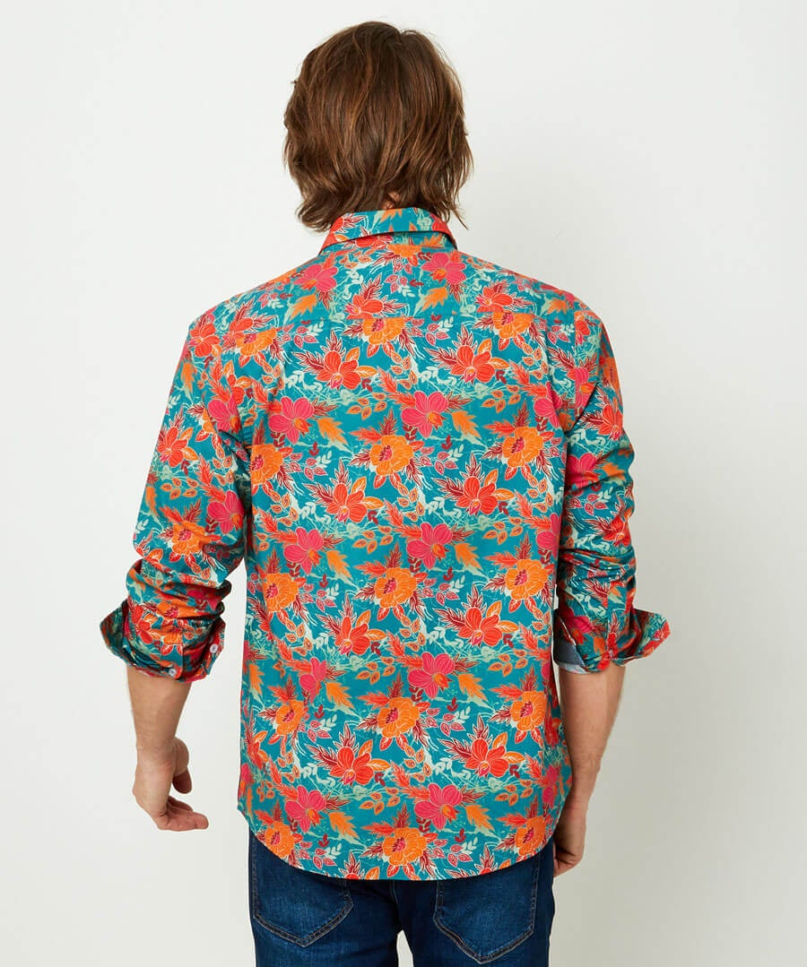 Fabulous Floral Shirt Model Back