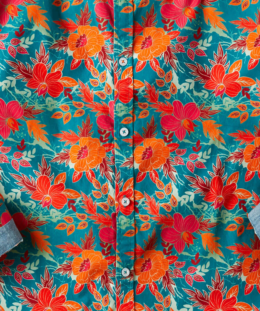 Fabulous Floral Shirt Back