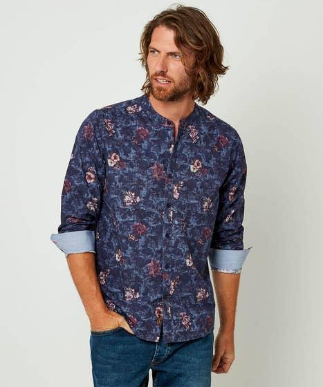 Floral Grandad Shirt
