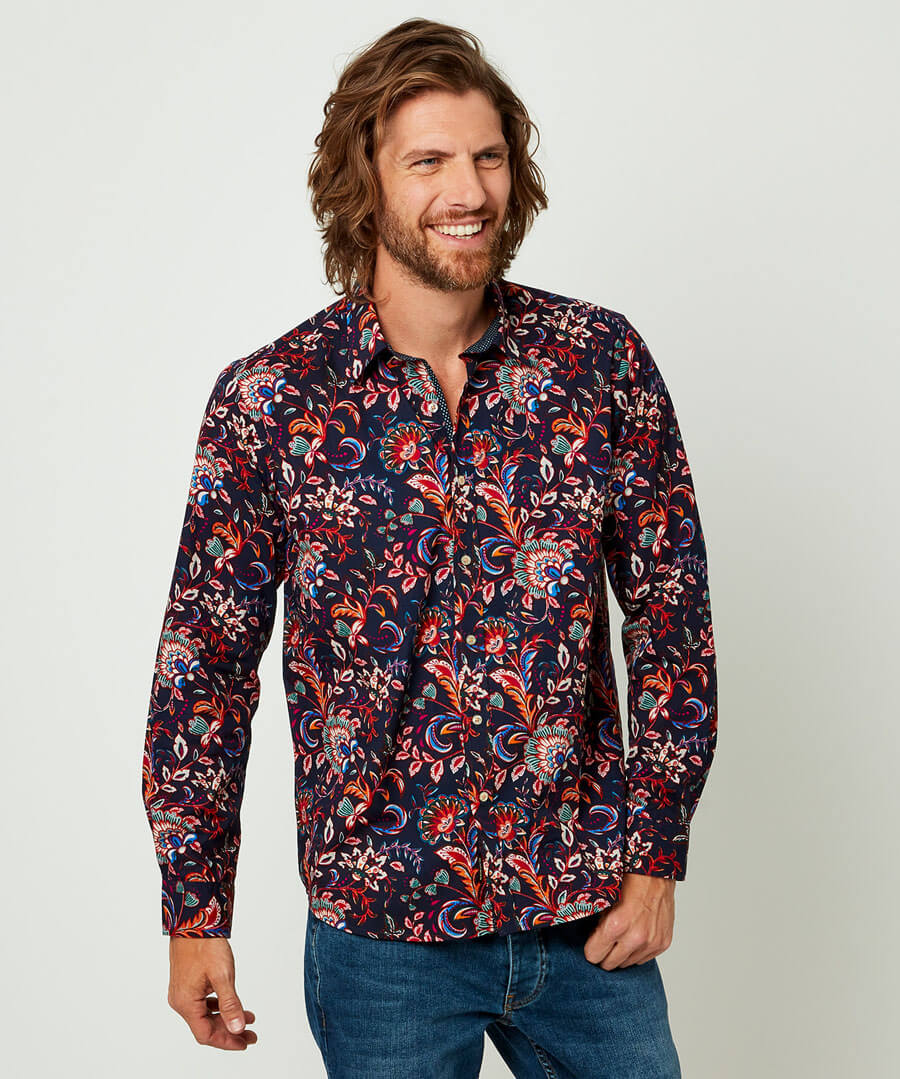 Mens Vintage Shirts – Casual, Dress, T-shirts, Polos Perfect Paisley Shirt $38.00 AT vintagedancer.com