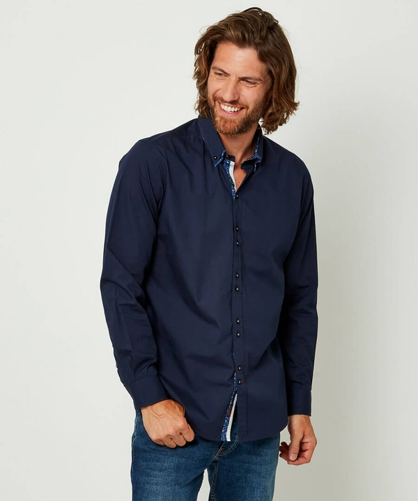 Delightful Double Collar Shirt