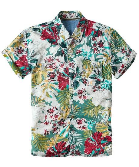 Washed Floral Shirt