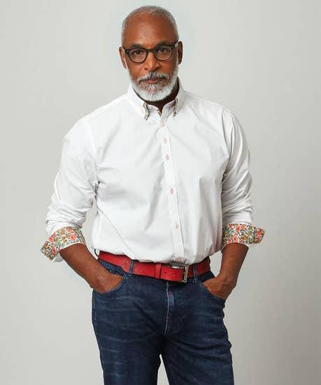 Fabulous Floral Double Collar Shirt