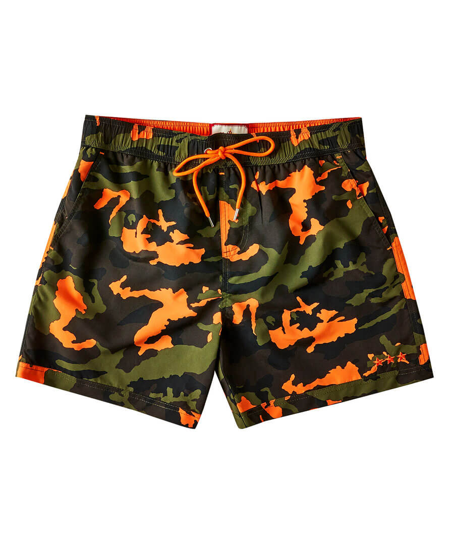 Cool Camo Swim Shorts Model Front