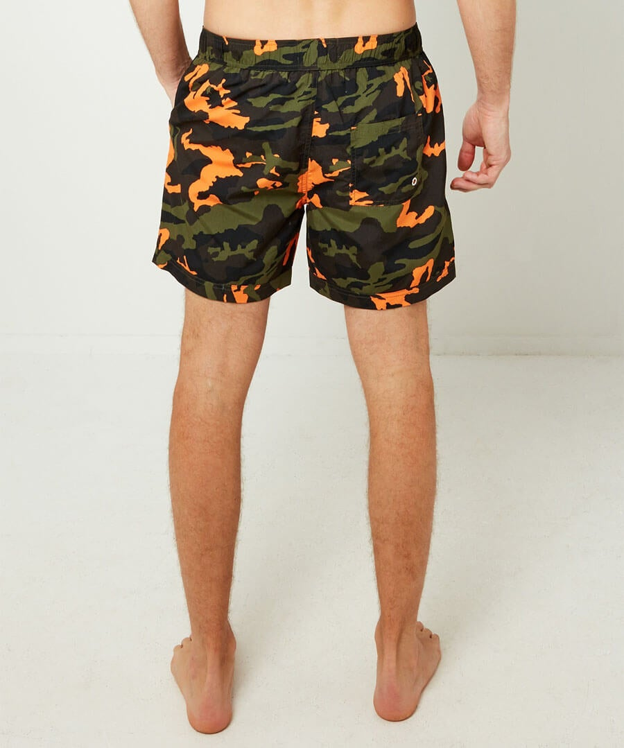 Cool Camo Swim Shorts Model Back