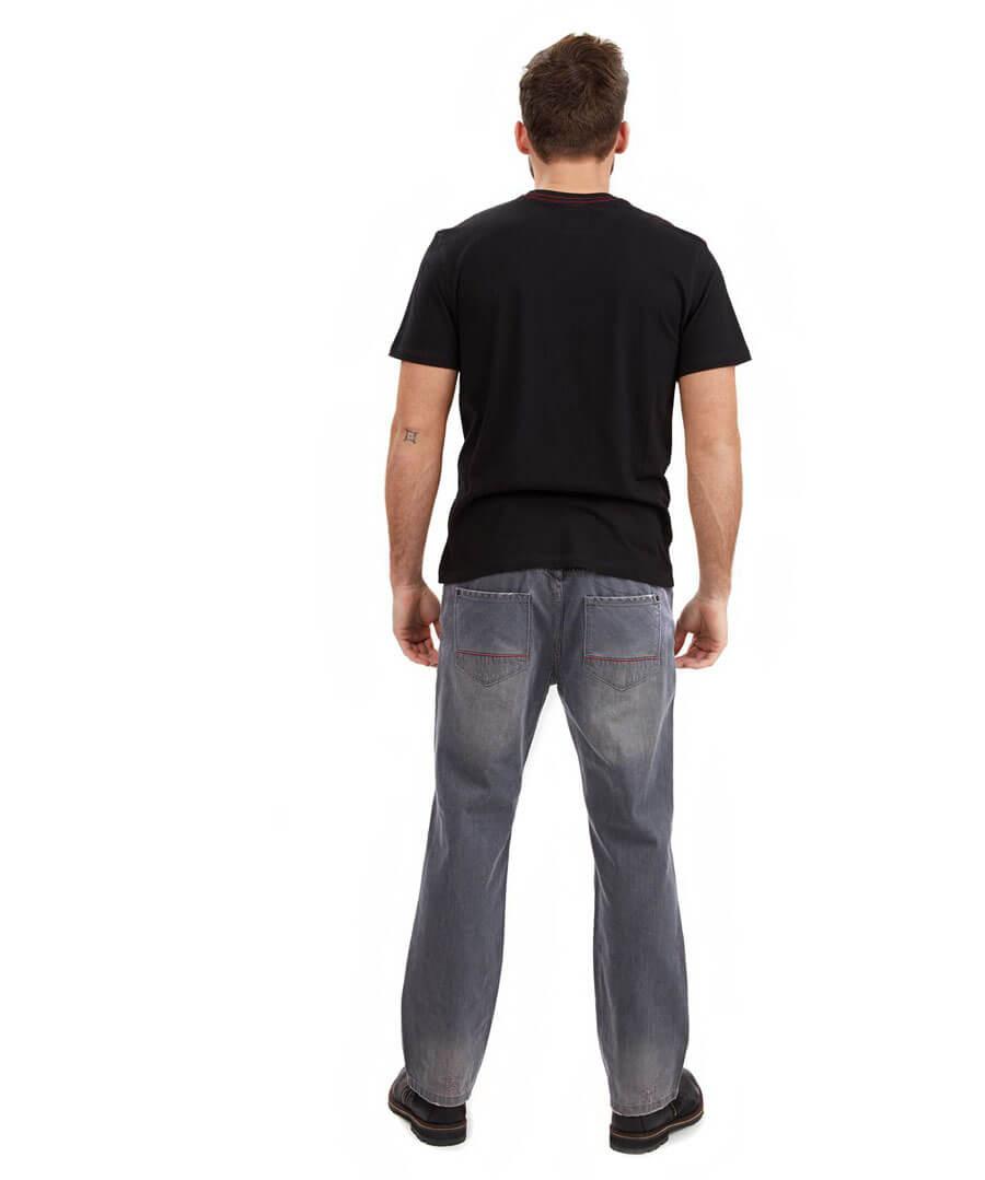 Straight Joe Jeans Model Back