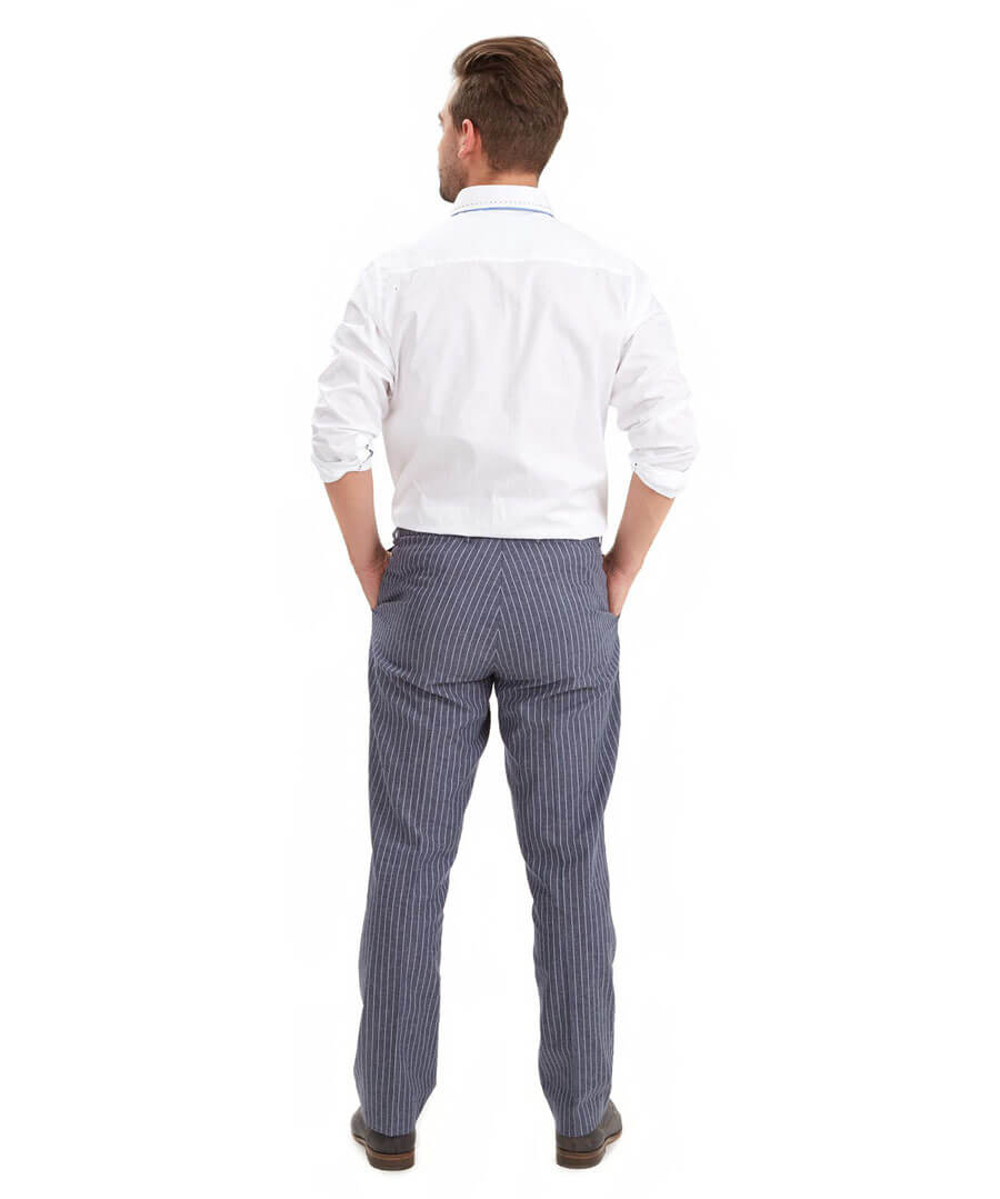 Perfect Pinstripe Trousers Model Back