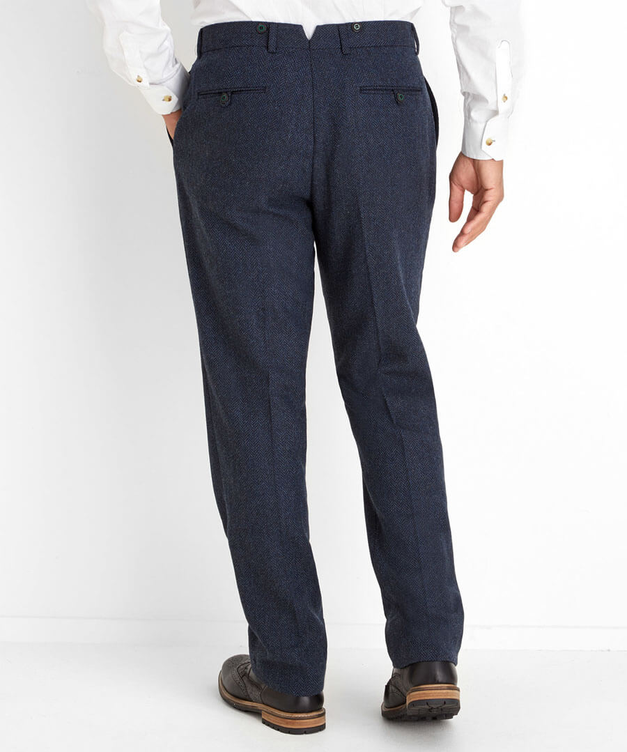 Dapper And Different Trousers Model Back