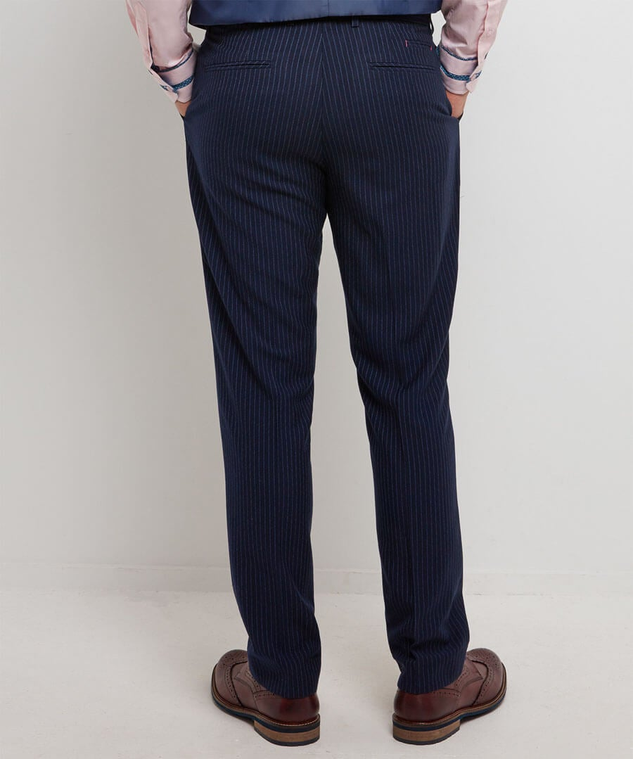 Sensational Stripe Trousers Model Back