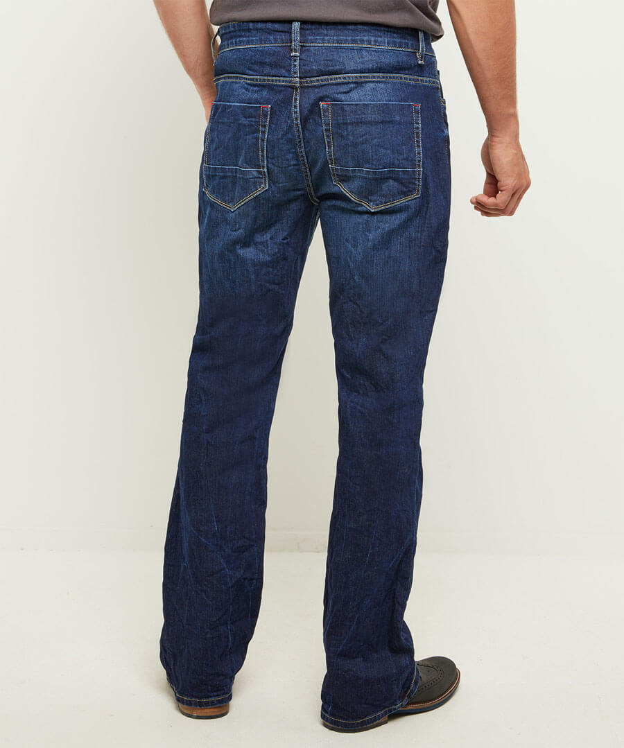 Belting Bootcut Jeans Model Back