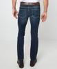 Dark Distress Straight Jeans