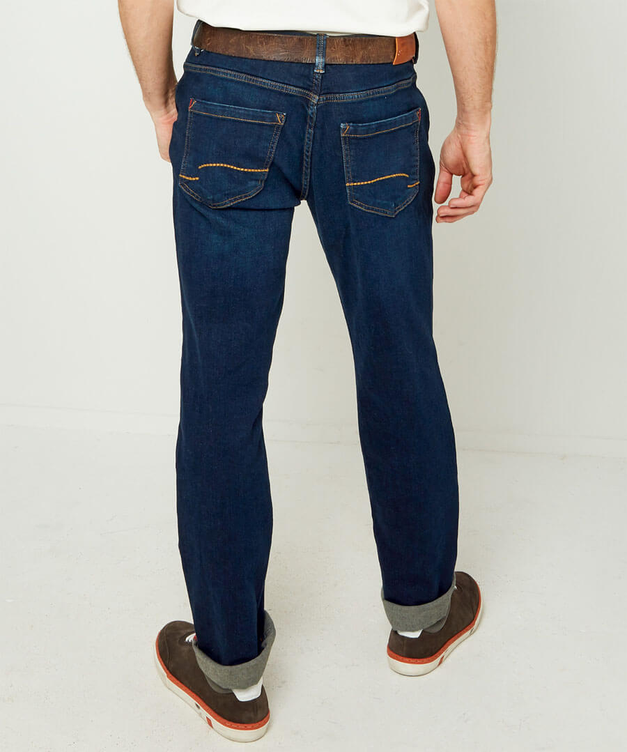 Work Hard Play Hard Jeans Model Back