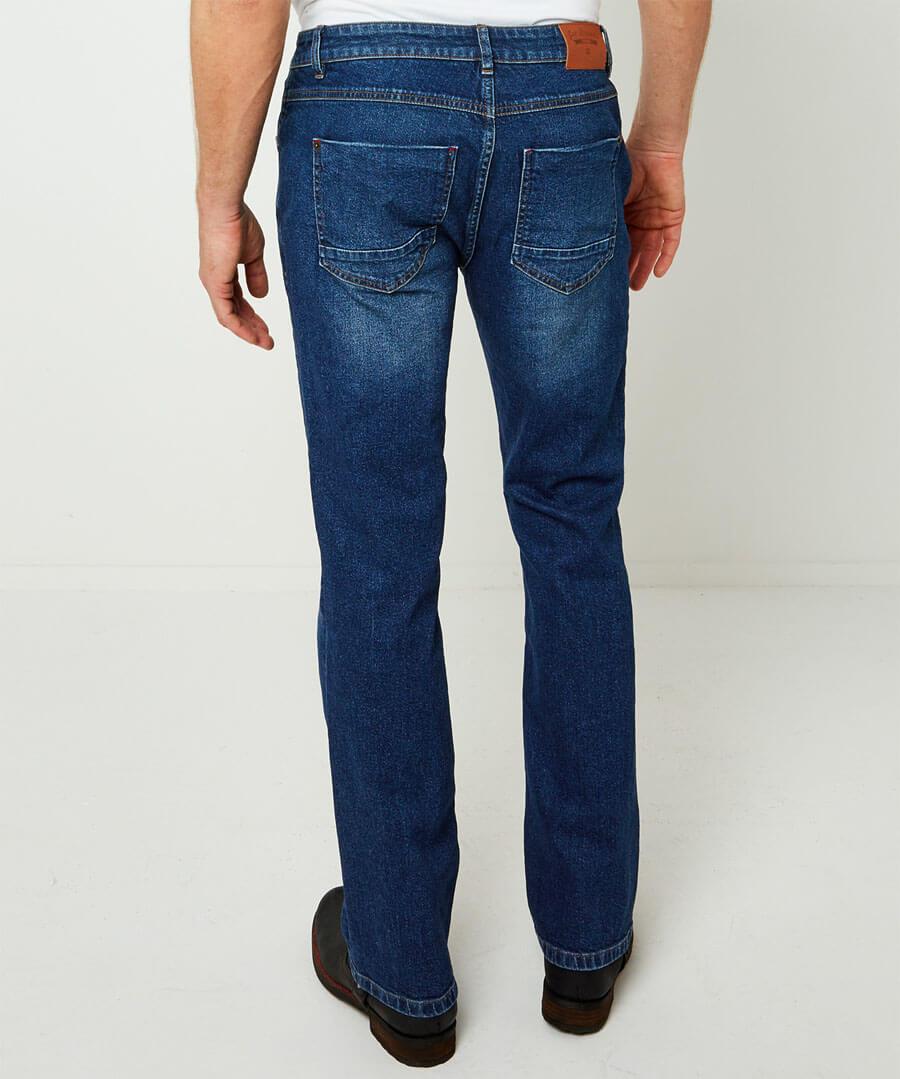 Sustainable Straight Jeans Model Back