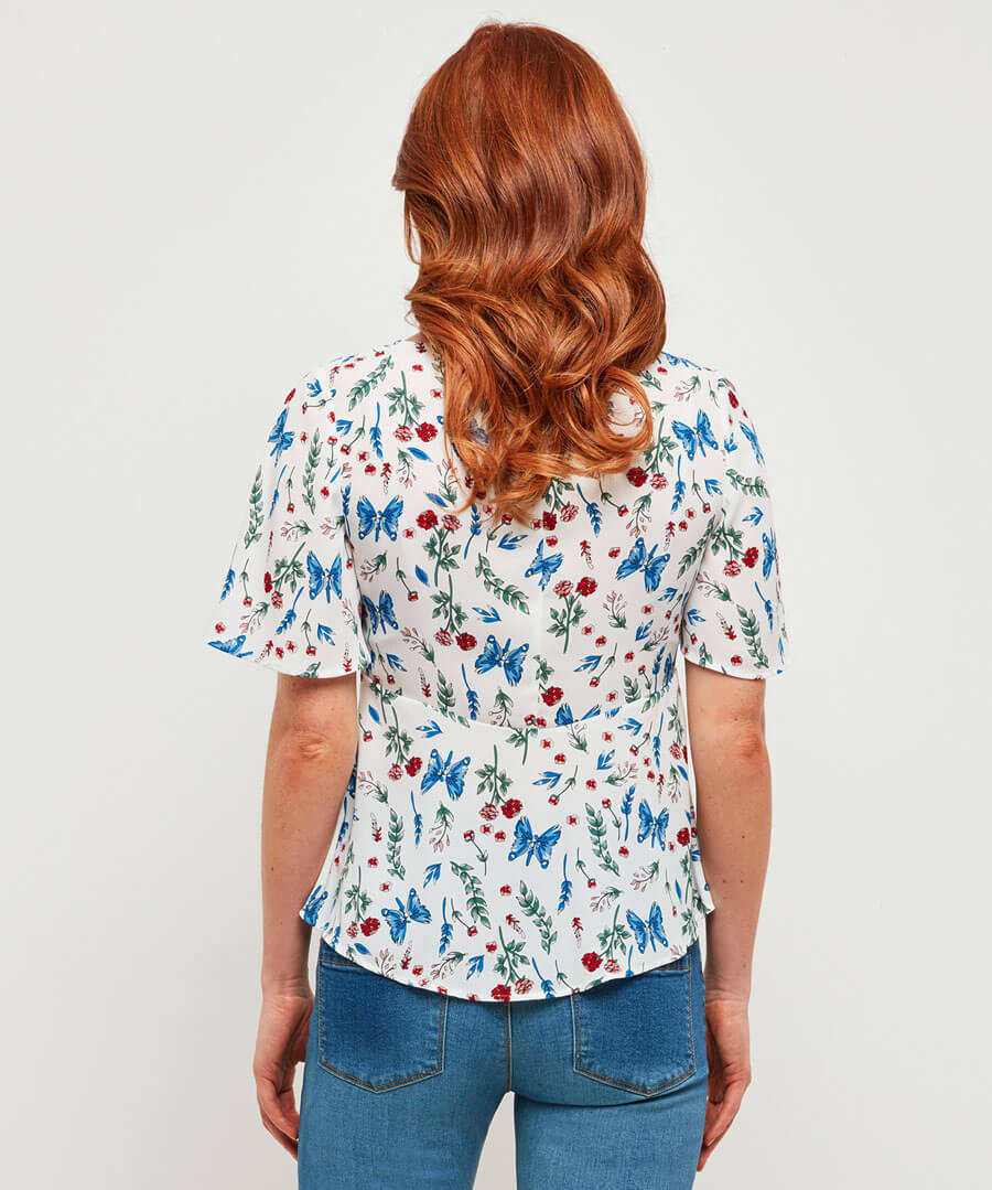 All About You Blouse Model Back