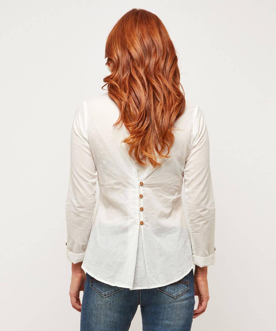 Luxurious Lace Blouse Model Back