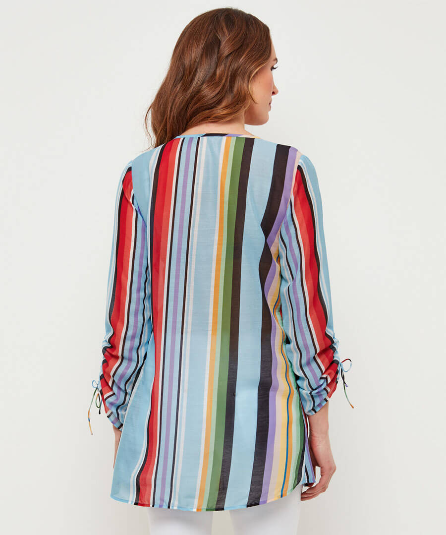Sequin Rainbow Blouse Model Back