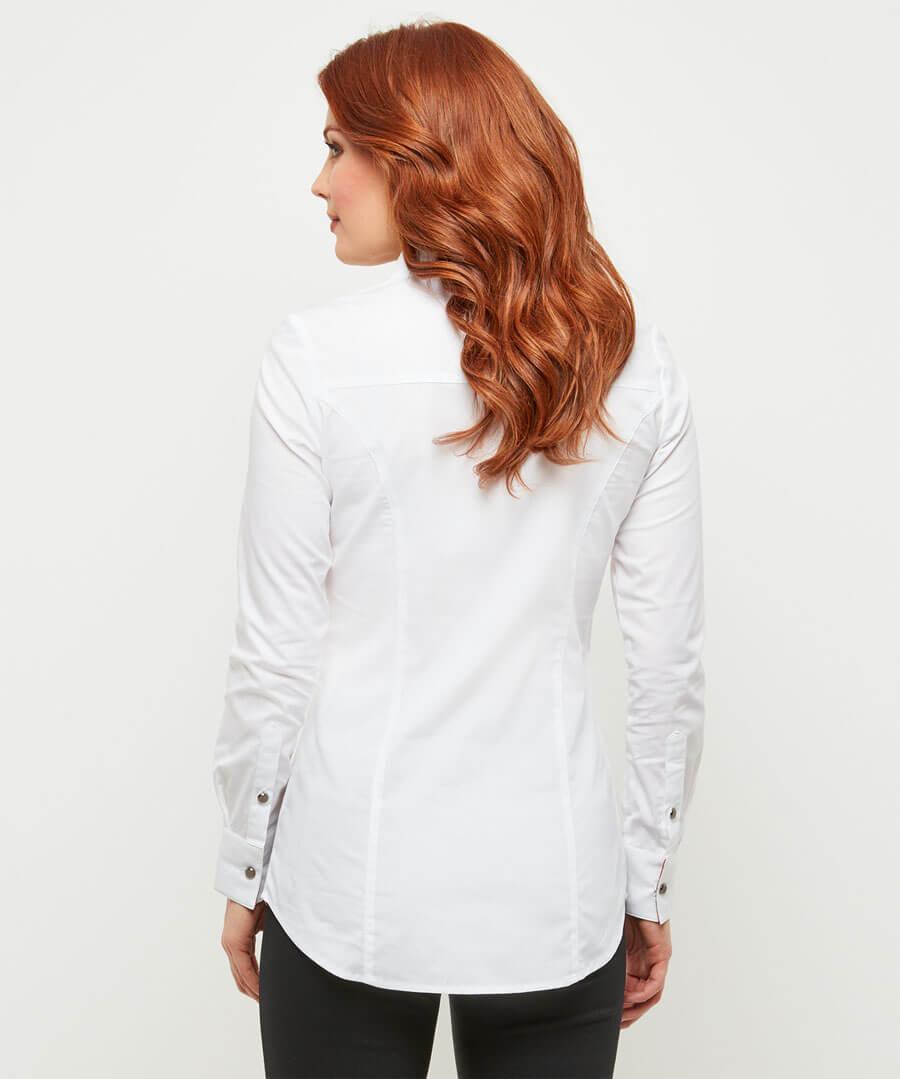 Double Collar Shirt Model Back